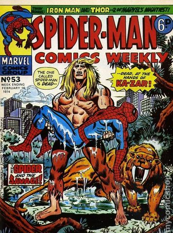 Spider-Man Comics Weekly (1973 UK) Issue 53