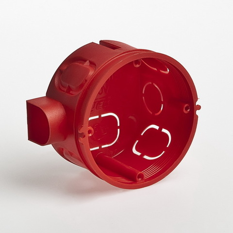 Установочная коробка СП D65х45мм, саморезы, оранжевая, IP20, TDM