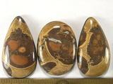 Комплект кабошонов липарита 37x21x6 мм - 2 шт., 32x23x5 мм - 1 шт.