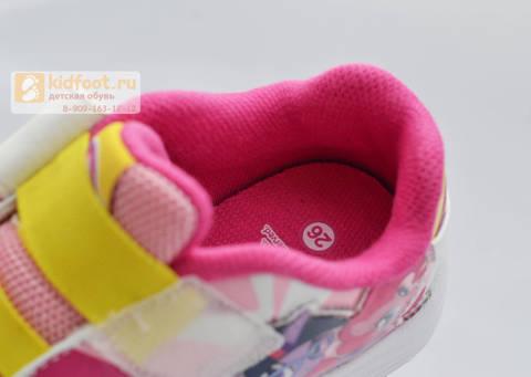Светящиеся кроссовки Пони (My Little Pony) на липучке для девочек, цвет розовый. Изображение 8 из 8.