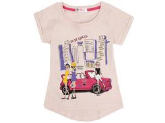 702-1 футболка детская, бежевая