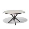 Стол кухонный KENNER B1300, раздвижной, стекло крем, подстолье венге