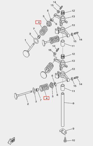 Пружина клапана для лодочного мотора F20 Sea-PRO (5-4)