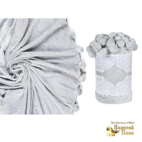 Плед с помпонами (160х200, 200х220) 181111-ТК01
