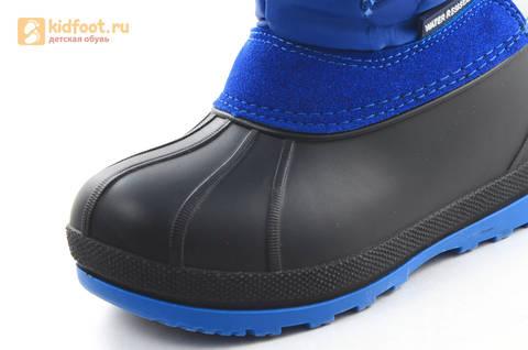 Зимние сапоги для мальчиков непромокаемые с резиновой галошей Фиксики, цвет синий, Water Resistant. Изображение 12 из 17.