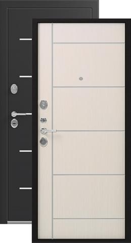 Дверь входная Легион L-2, 2 замка, 1,5 мм  металл, (чёрный шёлк+каньон)