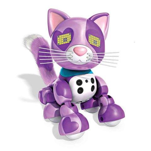 Интерактивный котенок фиолетовый Виола