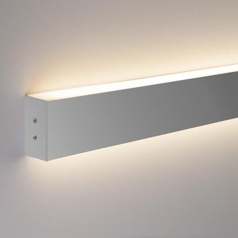 Линейный светодиодный накладной двусторонний светильник 53см 20Вт 6500К матовое серебро LS-02-2-53-6500-MS