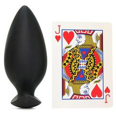 Силиконовая анальная пробка для ношения Renegade Spades Large (4,5 х 8,7 см.)