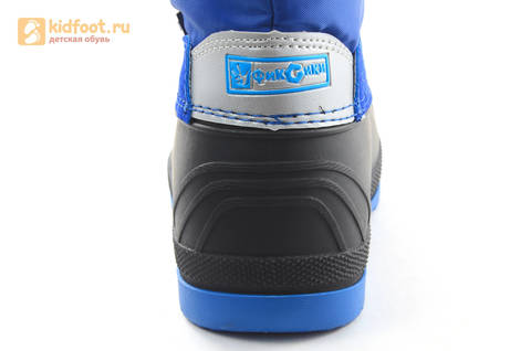 Зимние сапоги для мальчиков непромокаемые с резиновой галошей Фиксики, цвет синий, Water Resistant. Изображение 13 из 17.