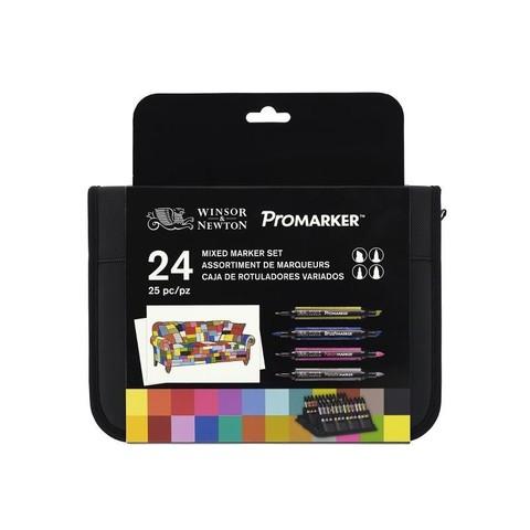 Набор маркеров W&N MIXED MARKER 24шт в футляре