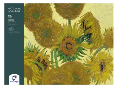 Блок для акварели Royal Talens Van Gogh National Gallery, 300 гр/м.кв, 30х40 см, 12 листов, склейка по 4 сторонам