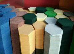 Акустическая панель из полиэфирного волокна POLYSTER шестигранник