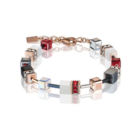 Браслет Coeur de Lion 4013/30-0300 цвет красный, чёрный, белый