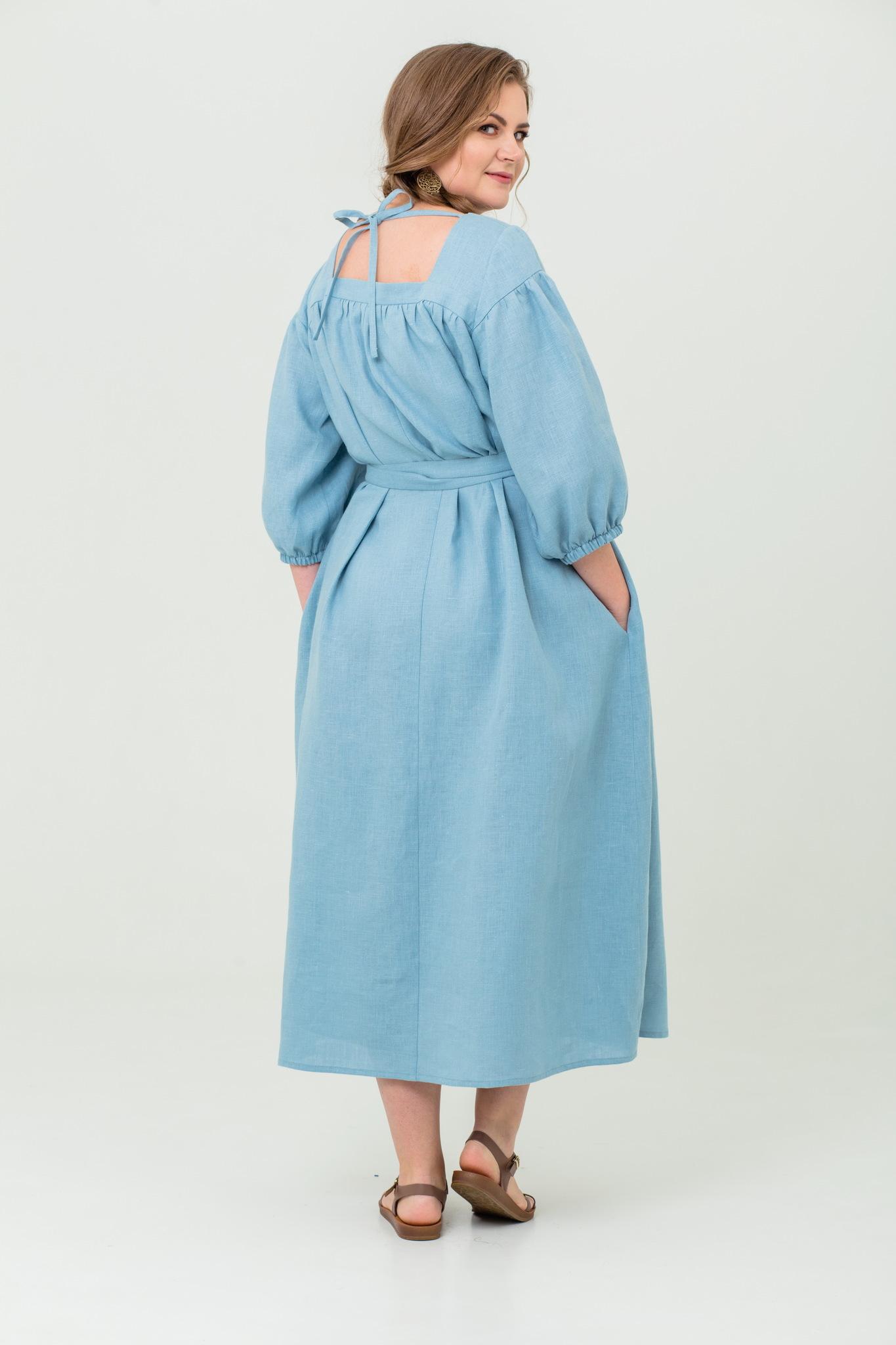 Платье льняное Босиком по росе на лето