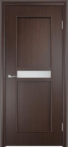 Дверь Верда C-3, цвет венге, остекленная