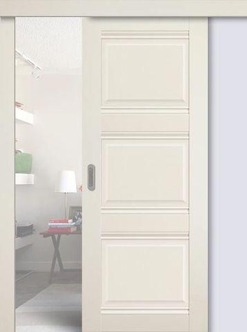 > Экошпон раздвижная Profil Doors №3Х-Классика, цвет эш вайт, глухая