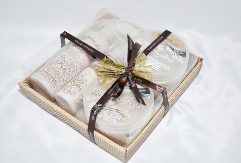 Набор подарочный №8 ШОКОЛАД-МИЛК (пенка200мл, молочко100мл, мусс280 мл, скрабби200мл)/ТМ Chocolatte