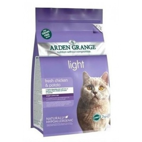 ARDEN GRANGE ADULT CAT LIGHT FRESH CHICKEN & POTATO 8 кг
