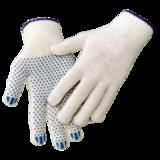 Перчатки трикотажные ПВХ Точка 10 кл 3х нитка