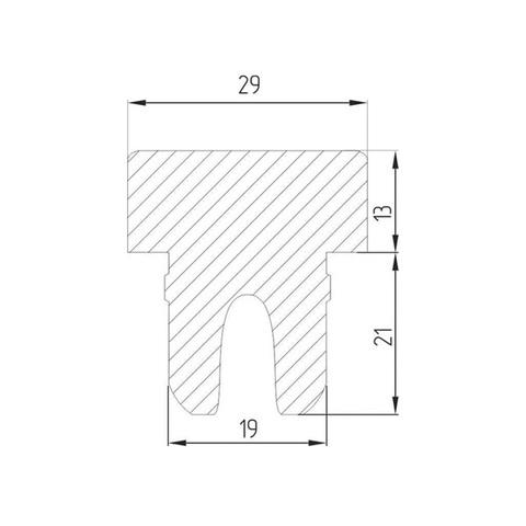 Коньячная пробка полимерная 19 мм, 10 шт