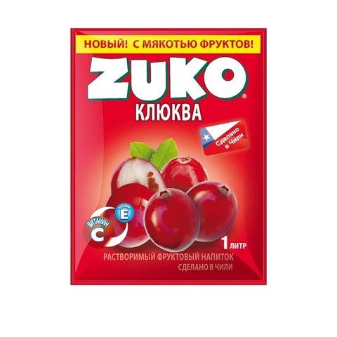 Растворимый напиток ZUKO Клюква  1кор*8 бл*12шт 25гр