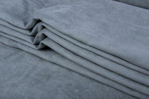 Штора готовая однотонная из портьерной ткани   цвет: голубовато-синий   размер на выбор