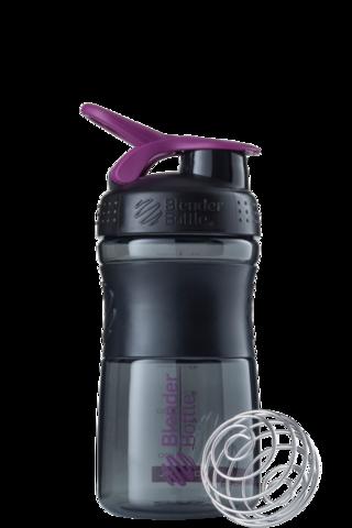 BlenderBottle SportMixer, Универсальная Спортивная бутылка-шейкер с венчиком.  Black-Plum-черный-сливовый 591 мл