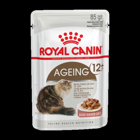 Royal Canin Ageing 12+ Консервы для пожилых кошек старше 12 лет кусочки в соусе (Пауч)