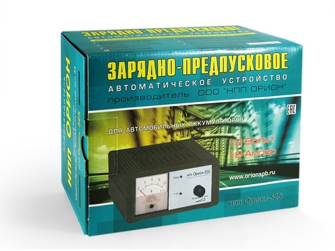 Зарядно-предпусковое устройство НПП ОРИОН-325 (12В, 20A)