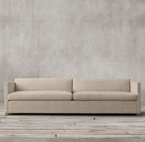Belgian Classic Shelter Arm Two-Seat-Cushion Sofa