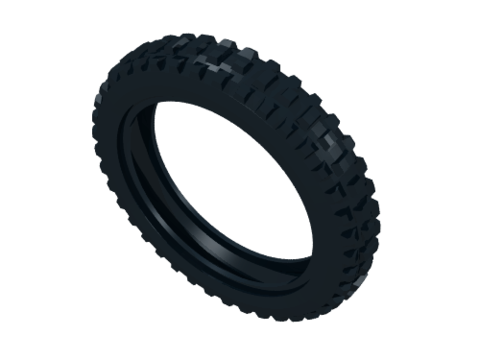 LEGO: Покрышка мотоциклетная 100.6, 11957 — Tire 100.6mm D. Motorcycle — Лего
