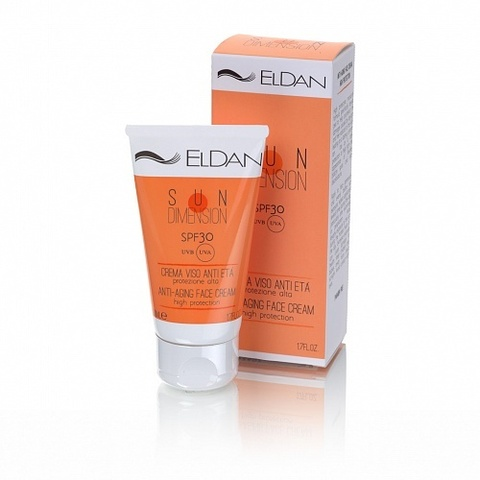 Крем Защита дневная от солнца SPF30 Eldan Anti-Aging Face Cream High Protection Le Prestige 50мл