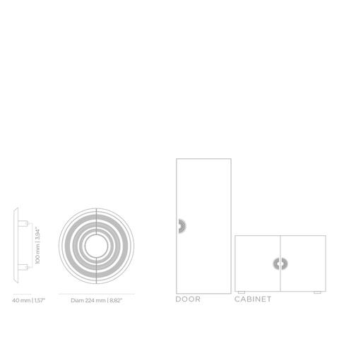 Мебельная ручка PullCast HENDRIX TW5003