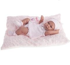 Munecas Antonio Juan Кукла-младенец Ника, в розовом, 42 см. (5054P)