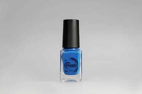 Лак для стемпинга Swanky Stamping №014, неоново-синий, 6 мл.