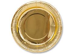 Тарелка фольгирован золотая 17см 6шт/G