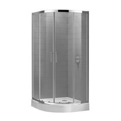 Душевой уголок 80x80x190 см с раздвижными дверями Cezares Eco ECO-O-R-2-80-P-Cr фото