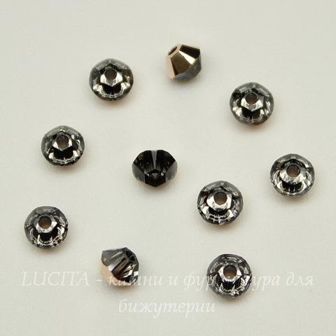 5328 Бусина - биконус Сваровски Crystal Rose Gold 3 мм, 10 штук