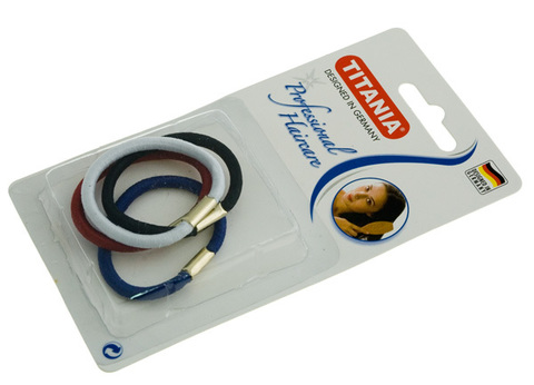 Резинки для волос Titania 8014В (45мм, цветные, 4шт)