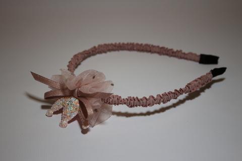 Ободок розовый