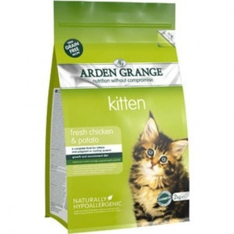 ARDEN GRANGE KITTEN WITH FRESH CHICKEN & POTATO 8 кг