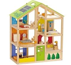 Hape Деревянный 3-х этажный кукольный дом (E3401)