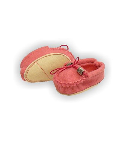 Мокасины из фетра - Розовый. Одежда для кукол, пупсов и мягких игрушек.