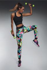 Легинсы спортивные разноцветные на манжетах