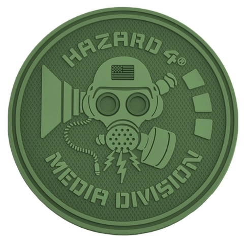 Hazard 4 Rubber Patch Media Division oliv