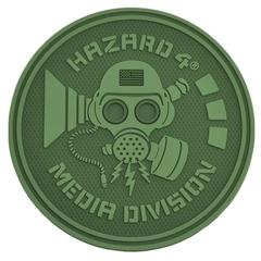 Hazard 4 Rubber Patch Media Division oliv