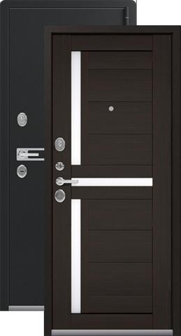 Дверь входная Легион L-3, 2 замка, 1,8 мм  металл, (чёрный муар+венге шоколад)