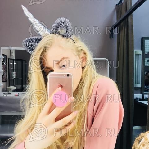 Ободок на голову Единорог с ушками блёстками Серебристый
