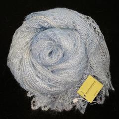 Оренбургский пуховый палантин светло-голубой 47